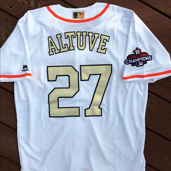 best service 00499 beb05 Jose Altuve Houston Astros Gold Jersey NWT (M) NWT